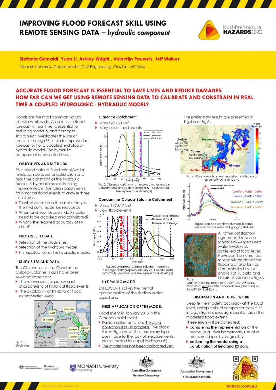 Improving Flood Forecast Skill Using Remote Sensing Data - Hydraulic Component