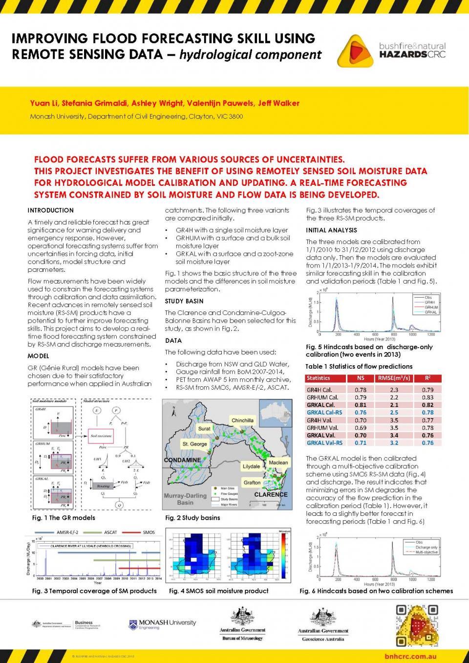 Improving Flood Forecasting Skill Using Remote Sensing Data - Hydrological Component