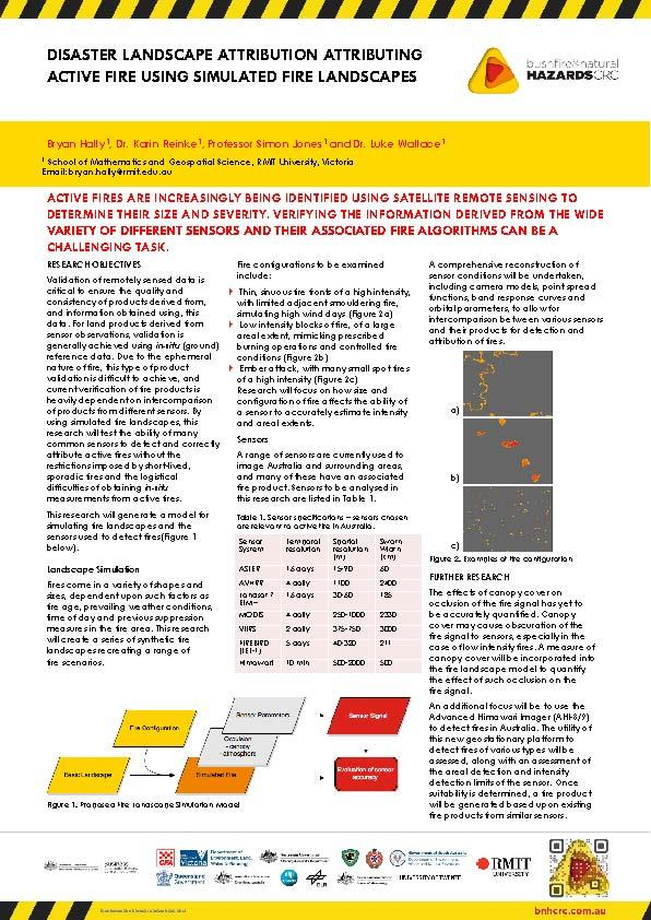 Disaster landscape Attribution: Attributing Active Fire Using Simulated Fire Landscapes