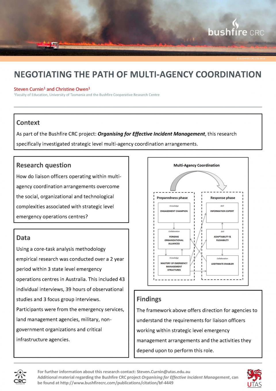 Negotiating the path of multi-agency coordination