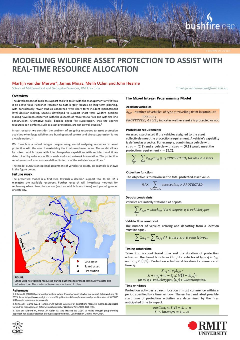 Modelling wildfire asset protection to assist with real-time resource allocation