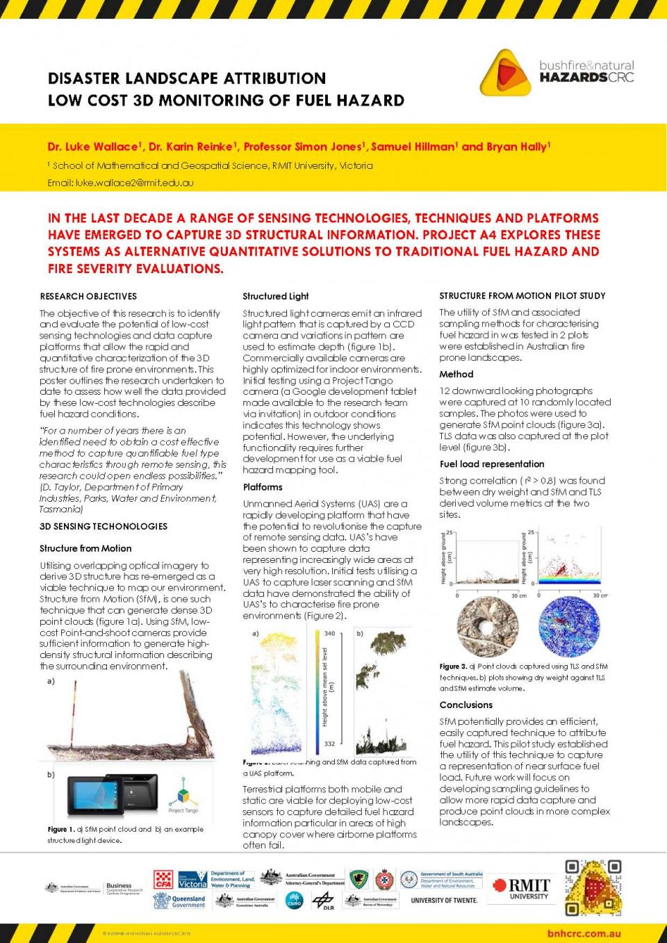 Disaster Landscape Attribution: Low Cost 3D Monitoring of Fuel Hazard