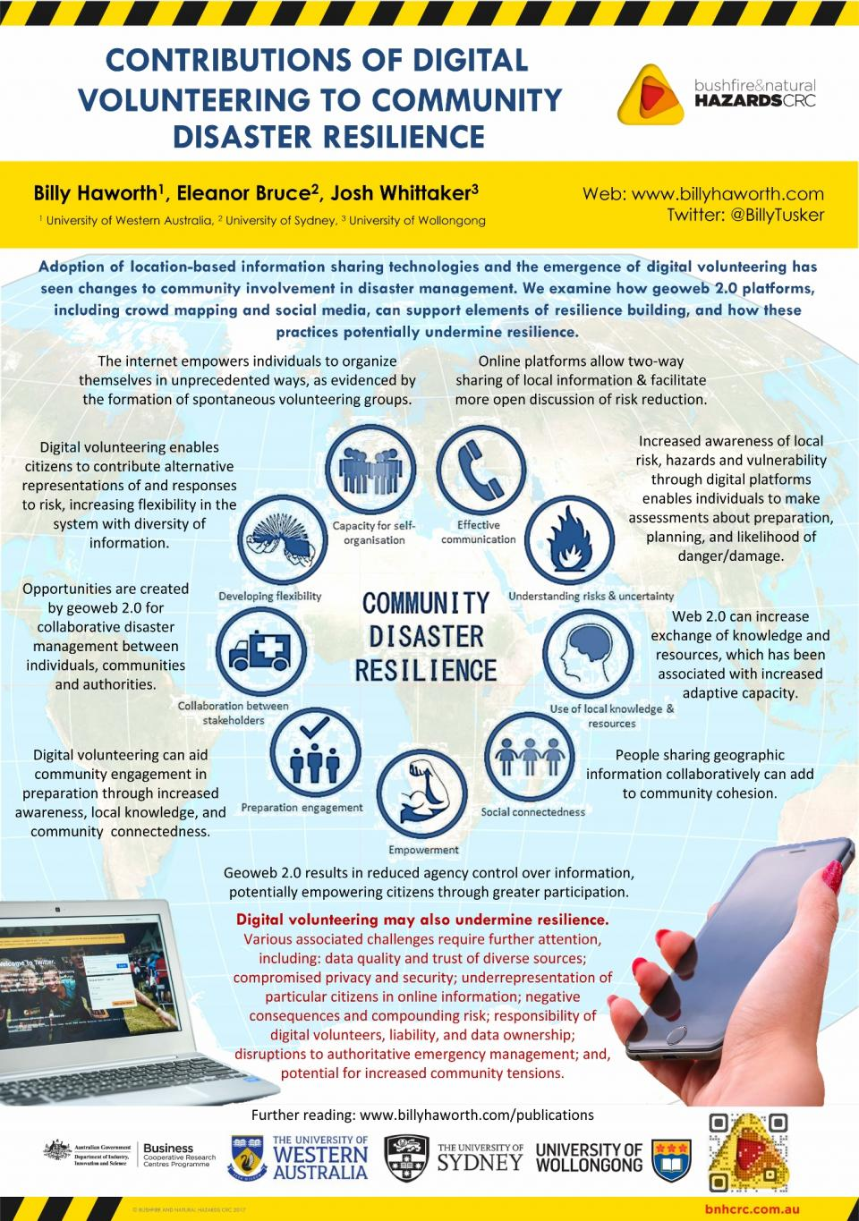 Contributions of digital volunteering to community resilience