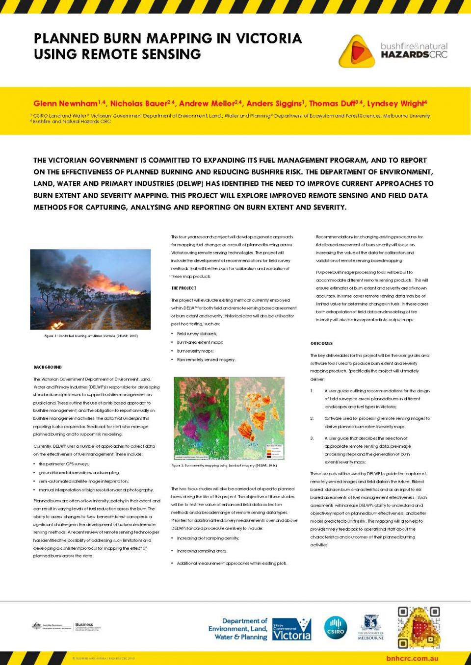Planned burn mapping in Victoria using remote sensing
