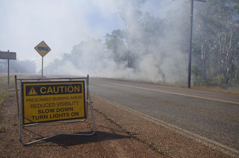 An early season prescribed burn near Darwin. Photo: Nathan Maddock, Bushfire and Natural Hazards CRC