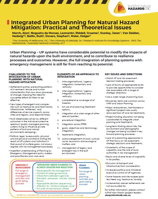 Integrated Urban Planning for Natural Hazard Mitigation