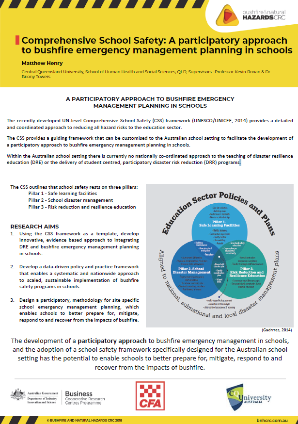 Comprehensive School Safety: A participatory approach to bushfire emergency management planning in schools