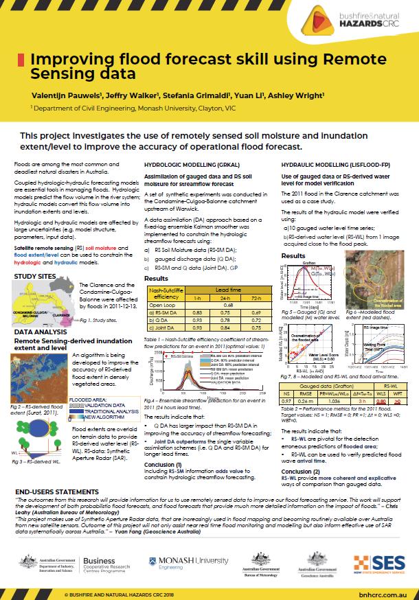 Improving flood forecast skill using Remote Sensing data