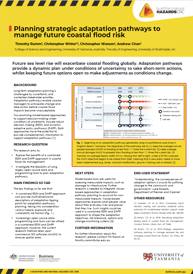 Planning strategic adaptation pathways to manage future coastal flood risk