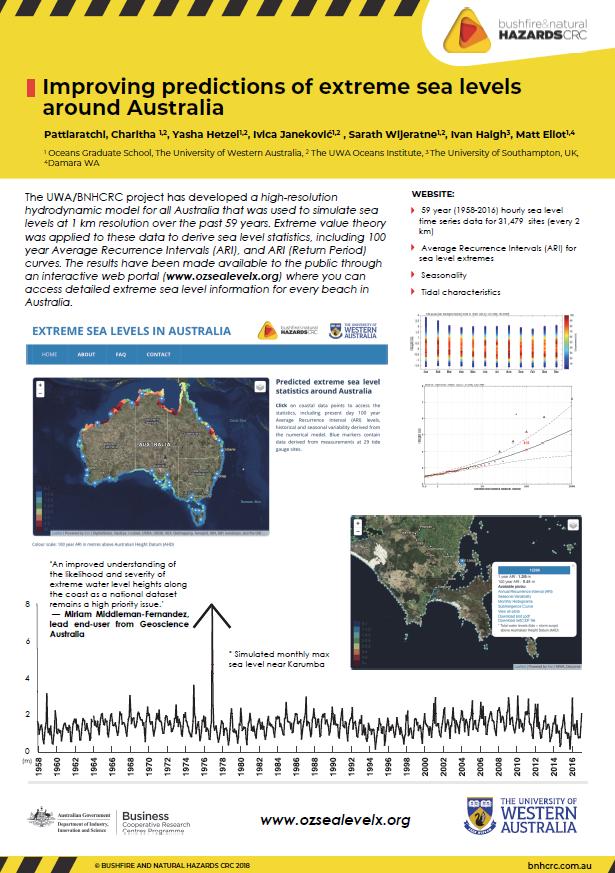 Improving predictions of extreme sea levels around Australia