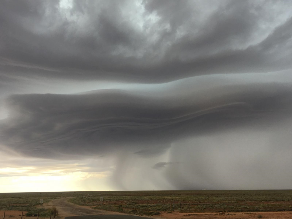 Thunderstorm through Woomera, SA tracking across the Eyre Peninsula toward Adelaide in 2016. Photo: Bureau of Meteorology SA