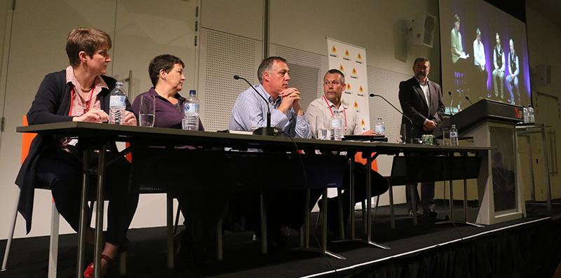 Panel discussion on fuel reduction at the Fire Behaviour and Fuels conference.