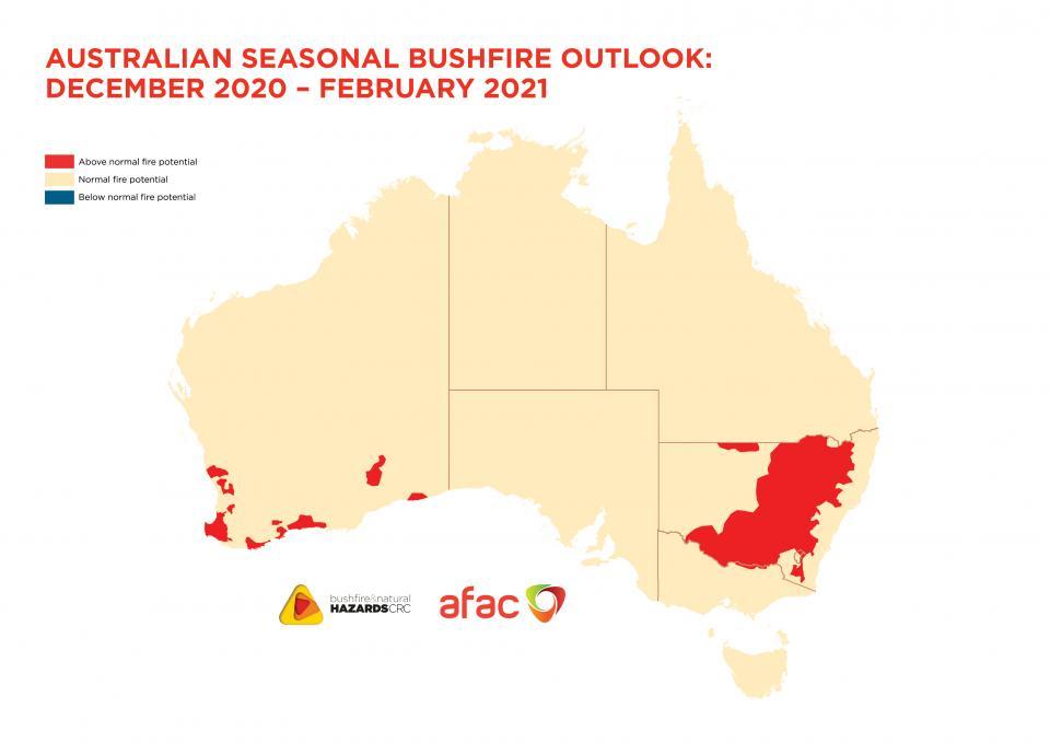 Australian Seasonal Bushfire Outlook: December 2020 - February 2021