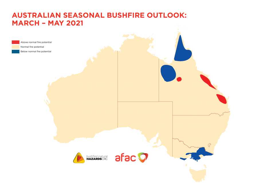 Australian Seasonal Bushfire Outlook: March - May 2021