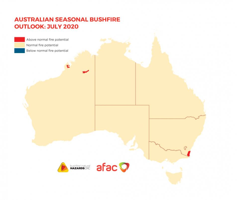 Hazard Note 75 - Australian Seasonal Bushfire Outlook: July 2020