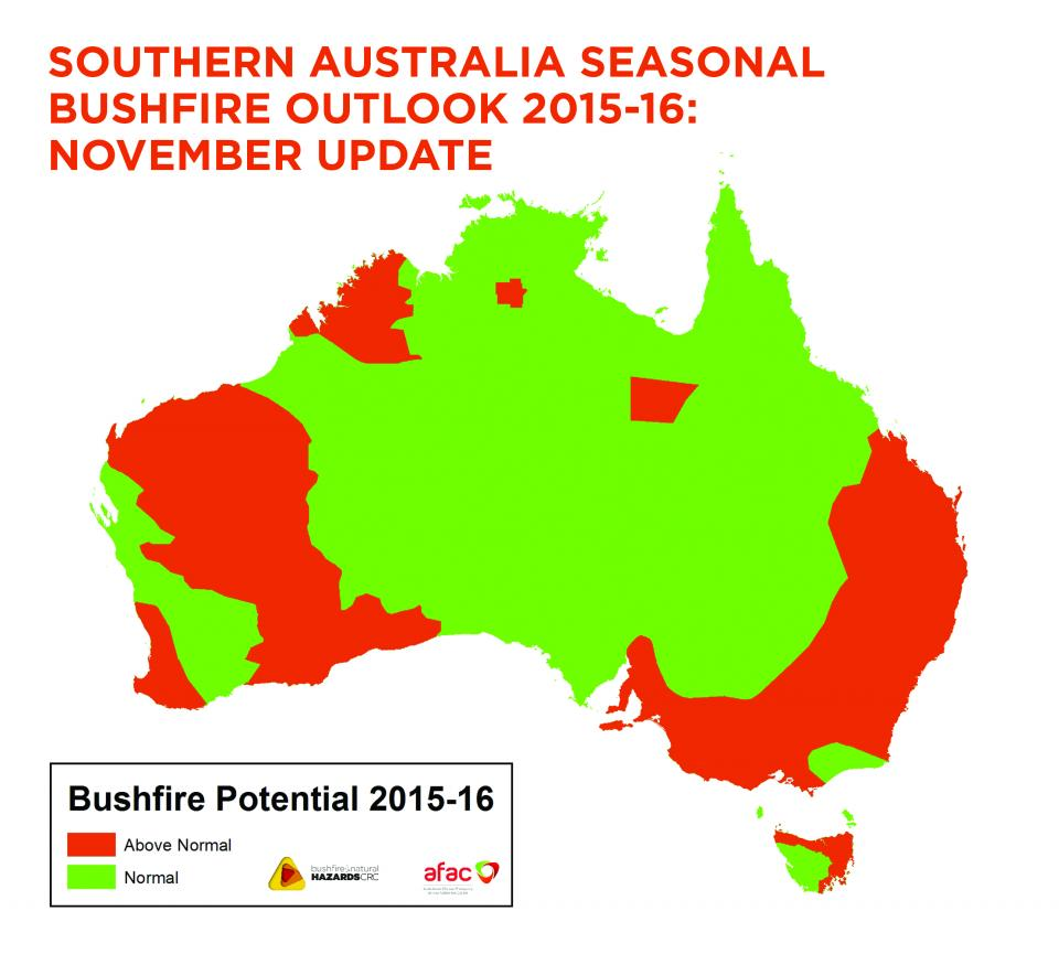 November update to the Southern Australia Seasonal Bushfire Outlook.