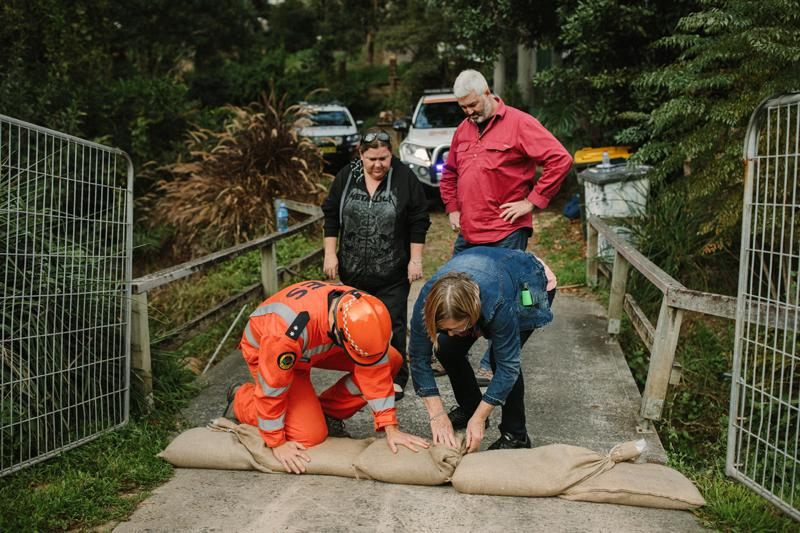 Preparing for a flood. Photo: NSW SES