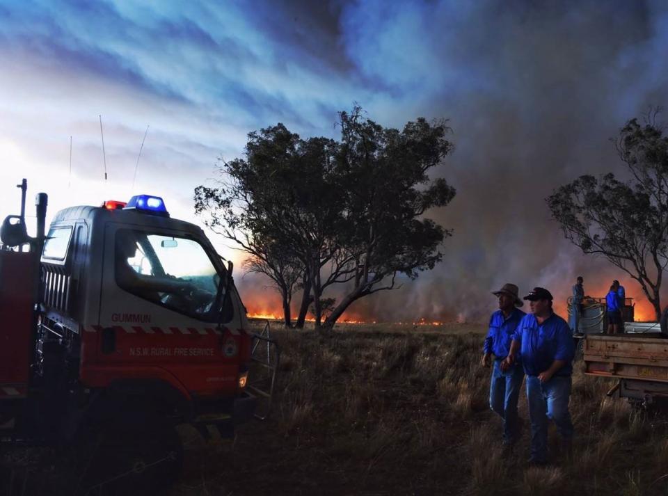 The Sir Ivan fire. Photo: Nick Moir, Fairfax Media