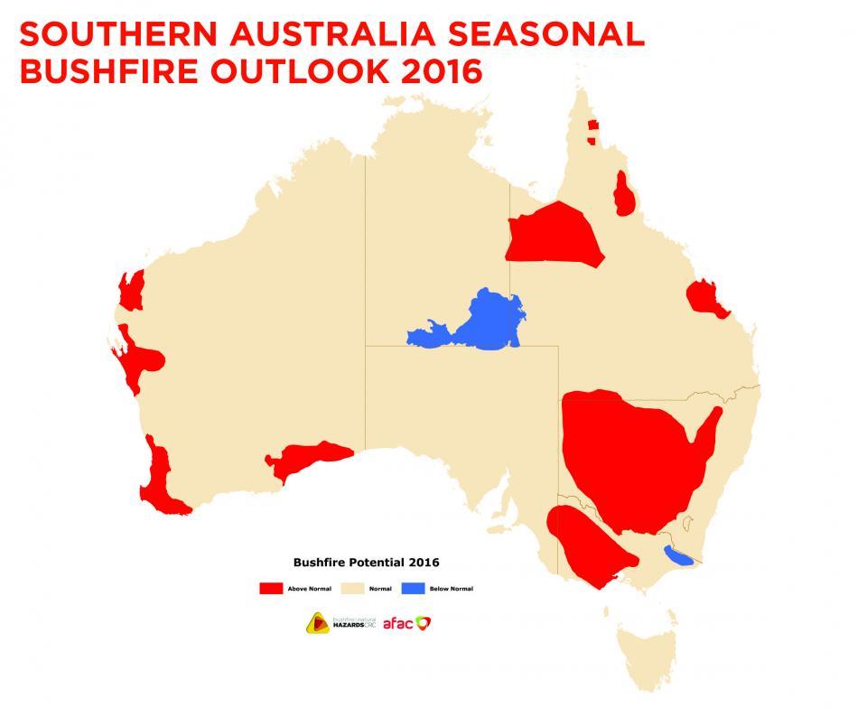 Southern Australia Seasonal Bushfire Outlook 2016   Bushfire ...