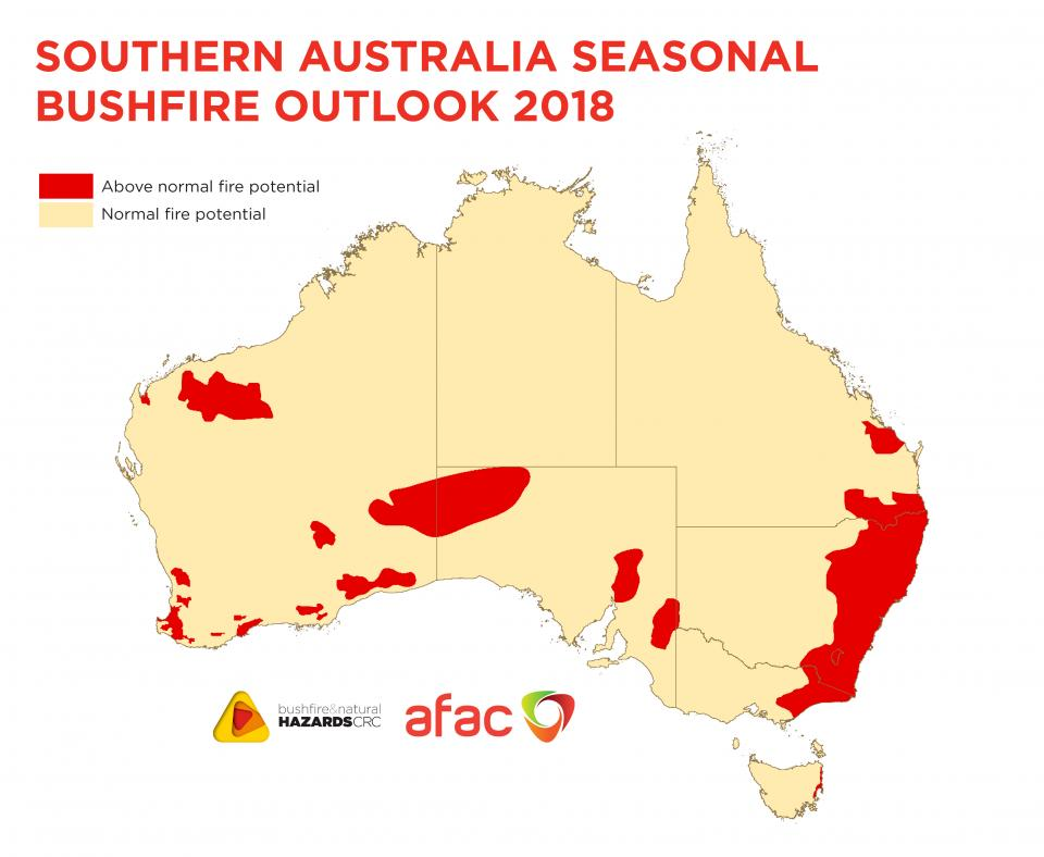 Southern Australia Seasonal Bushfire Outlook 2018