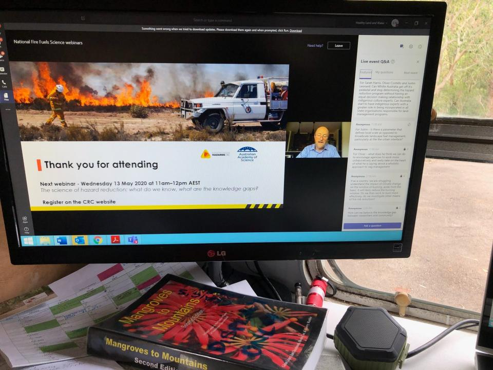 First Fire Fuels Science webinar. Photo: SE Queensland Fire and Biodiversity Consortium