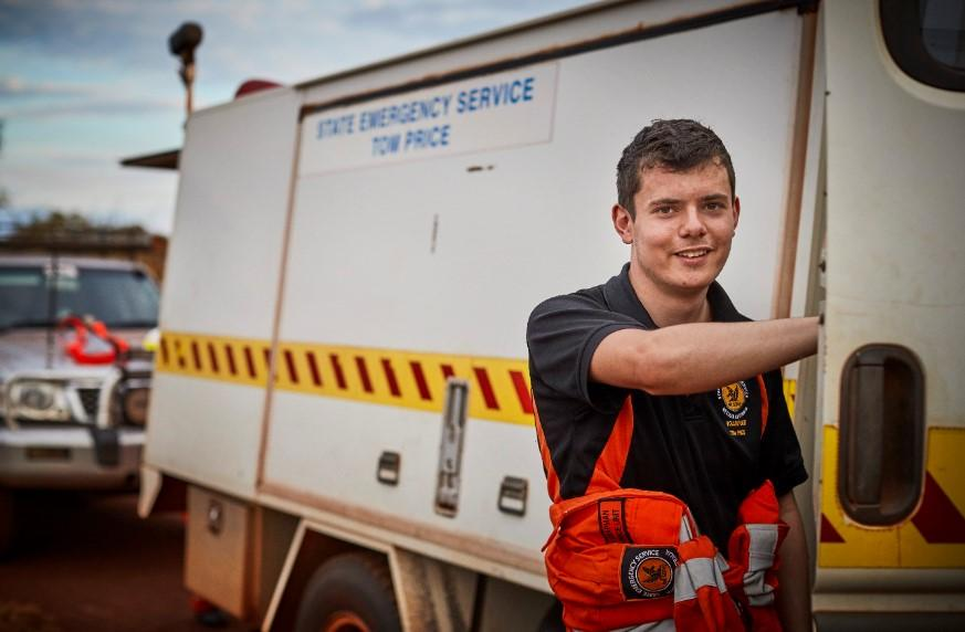 Young volunteers are essential in emergency services. Photo: DFES.