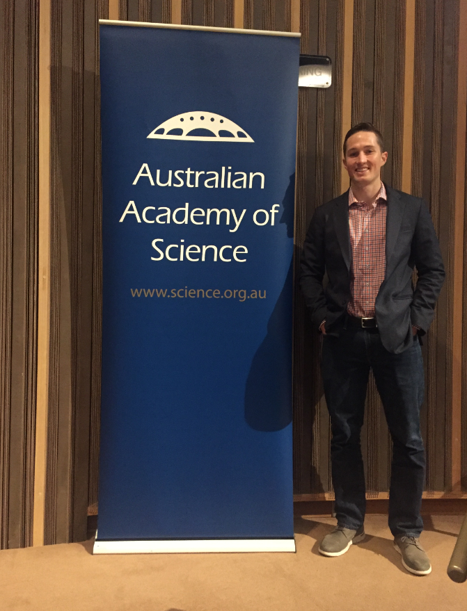 Daniel Smith at Science at the Shine Dome event in Canberra.