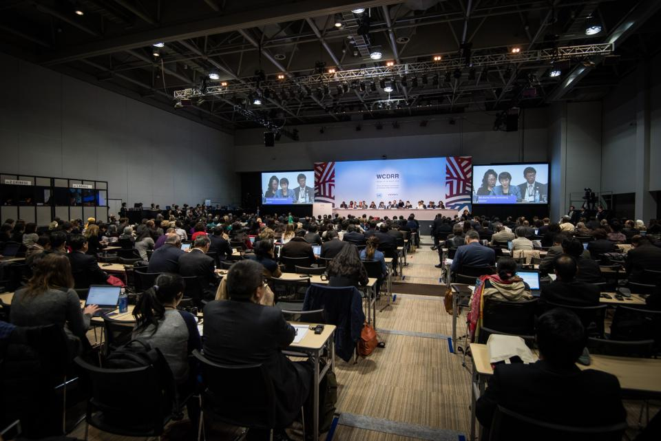 A conference like Sendai on the world stage is huge, with 6,500 people attending from across the globe. Photo by UN Integrated Research on Disaster Risk.