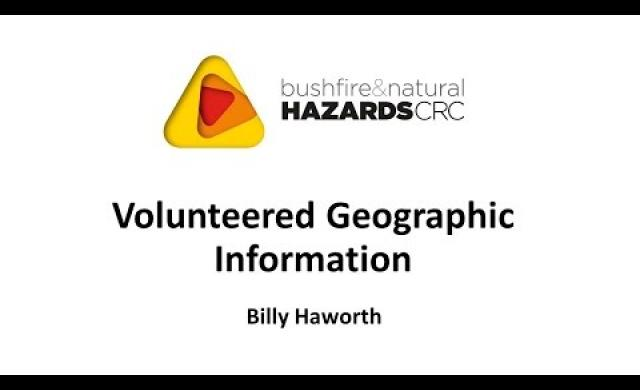 Volunteered Geographic Information - Billy Haworth