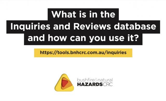 The Inquiries and Reviews database - what's in it and how can you use it?