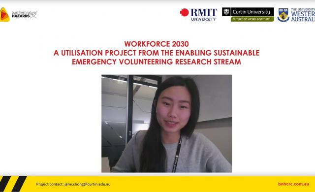 Enabling sustainable volunteering - Workforce 2030 - project update August 2020