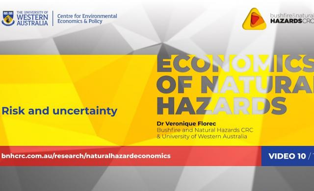 Risk and uncertainty | Economics of natural hazards (10/10)