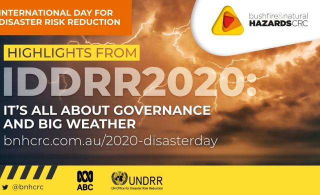 International Day of Disaster Risk Reduction 2020 – Highlights