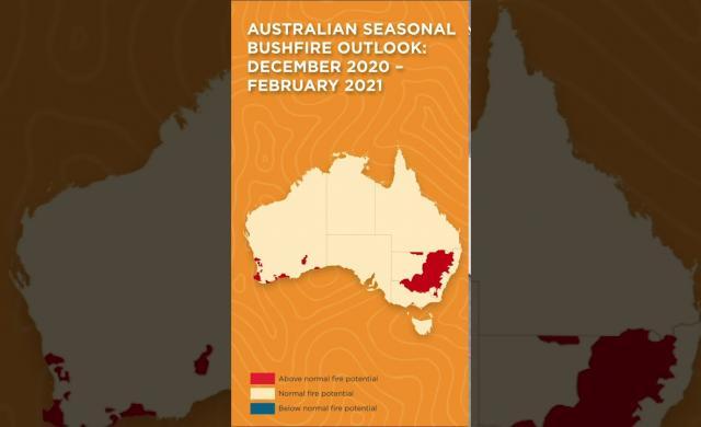Overview - Australian Seasonal Bushfire Outlook: December 2020 – February 2021 #shorts