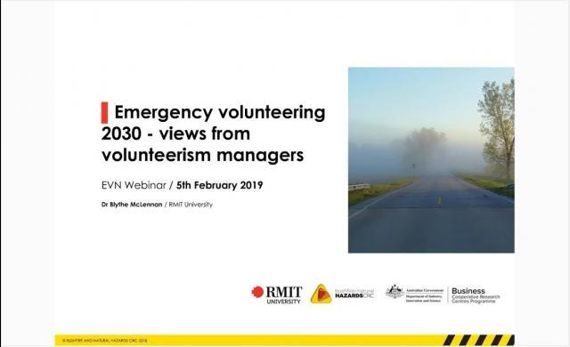 Emergency volunteering 2030 by Blythe McLennan
