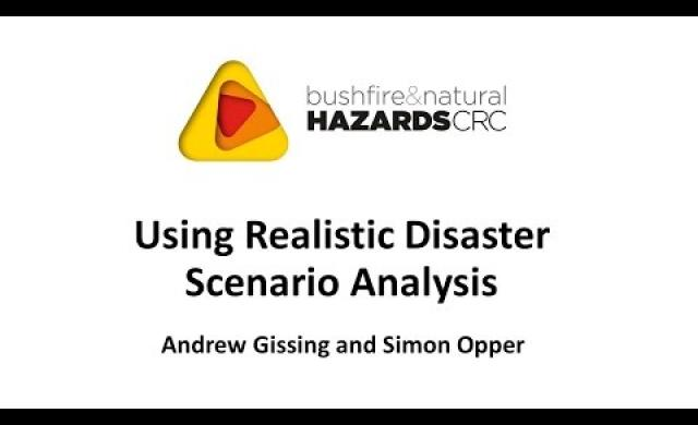 Using Realistic Disaster Scenario Analysis - Andrew Gissing and Simon Opper