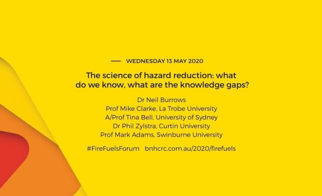 National Fire Fuels Science Webinar - The science of hazard reduction (webinar 2 of 3)