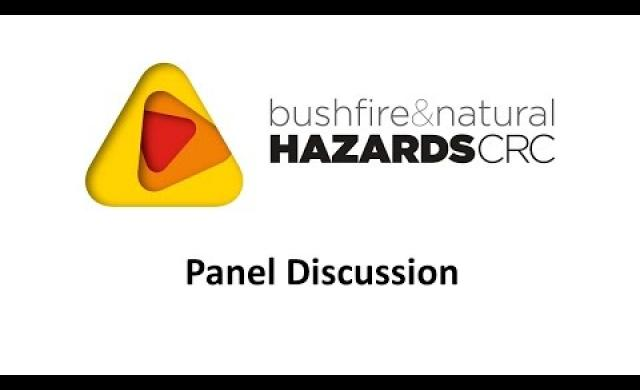Natural disasters - the challenge for Australia and the region - Panel Discussion