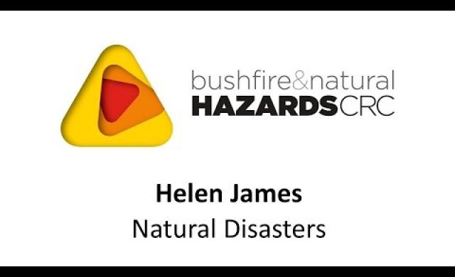 Dr Helen James ANU - natural disasters