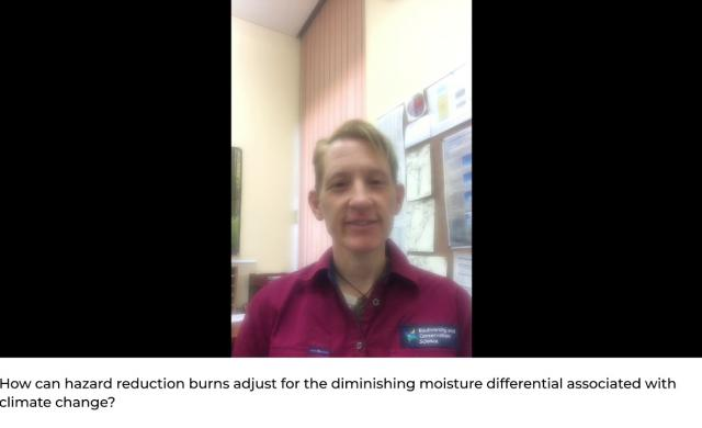 Q&A with Dr Valerie Densmore - National Fire Fuels Science webinar: the practice of hazard reduction