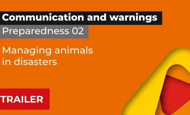 Trailer, Preparedness 2: Managing animals in disasters