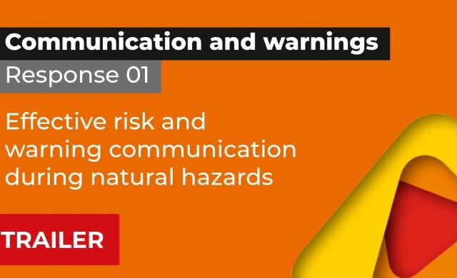 Trailer, Response 1: Effective risk and warning communication during natural hazards