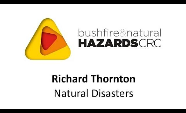 Dr Richard Thornton - the challenge of natural disasters