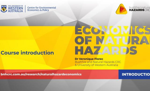 Video course introduction - economics of natural hazards with Dr Veronique Florec