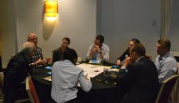 Delegates discussing the research priorities in the second half of the workshop.