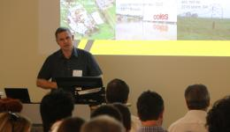 Dr Harald Richter discussing his work on forecasting and extreme weather events.
