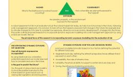 Understanding How Dynamic Exposure Affects Risk by Using a Land Use Model