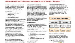 The Australian natural disaster resilience index: A system for assessing the resilience of Australian communities to natural hazards