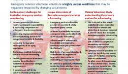 Volunteering Challenges for Emergency Services