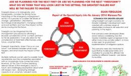 Tomorrow's disasters - foresight principles, risk assessment and treatment